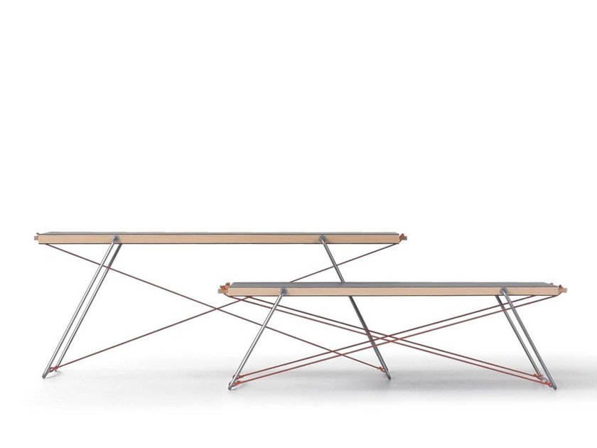 Rectangular chipboard side table PAUL & PAULA by Nils Holger Moormann