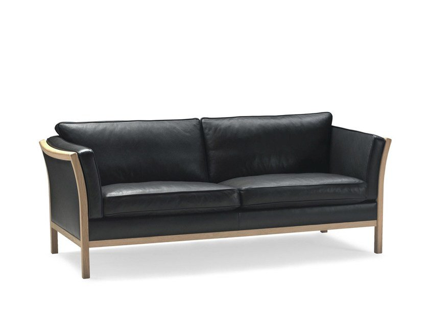 Leather sofa PAULA by Stouby
