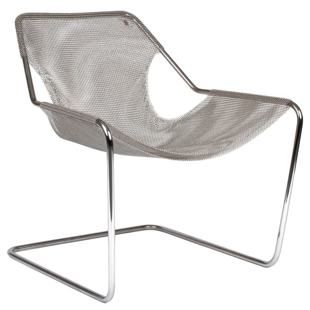 Cantilever stainless steel lounge chair PAULISTANO MESH by Objekto