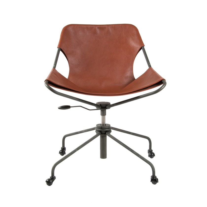 Swivel height-adjustable chair with caster PAULISTANO OFFICE CHAIR by Objekto