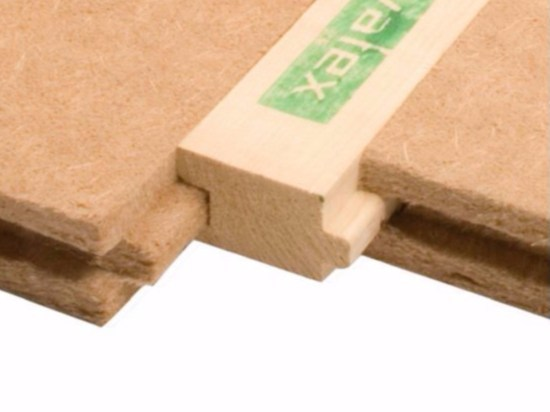 Wood fibre thermal insulation panel PAVATHERM-PROFIL by Pavatex