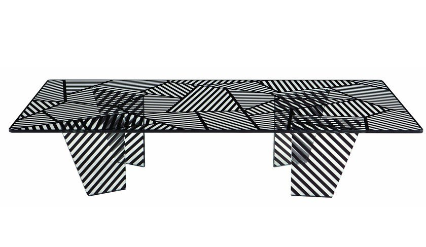 Rectangular coffee table for living room PAYSAGE by ROCHE BOBOIS