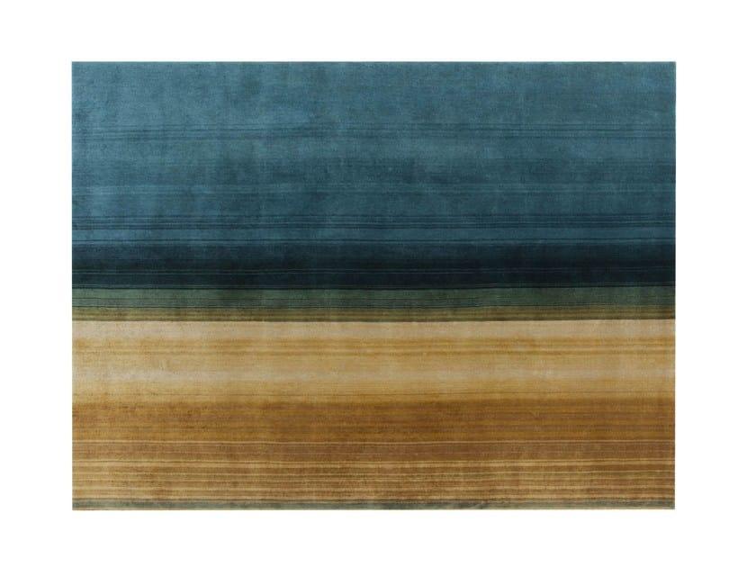 Handmade rectangular wool rug PAYSAGES by GAN