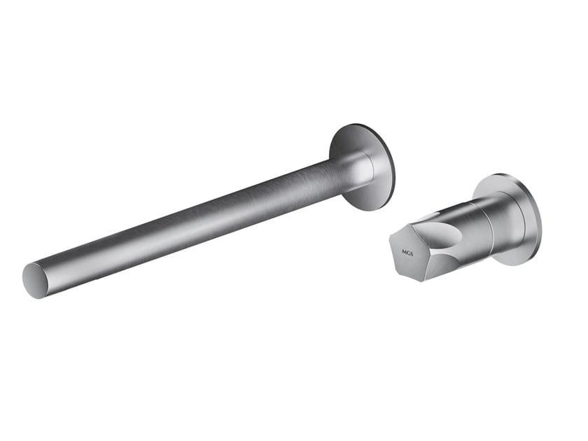 Wall-mounted single handle stainless steel washbasin mixer PE288 | Washbasin mixer by MGS