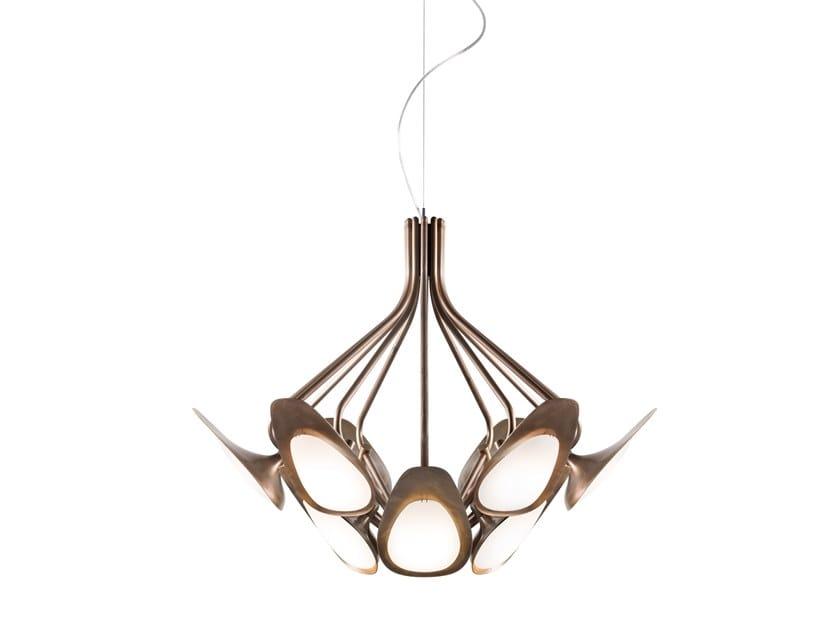 Lampada a sospensione a LED in metallo PEACOCK by KUNDALINI