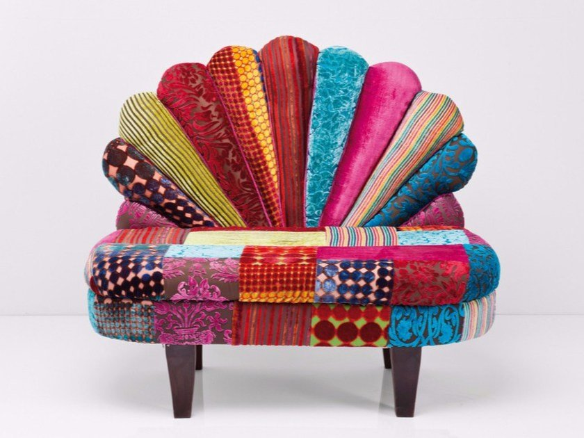 Fabric small sofa PEACOCK VELVET by KARE-DESIGN