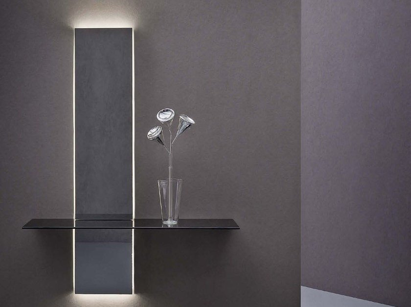 Console table with light PEAK by Natevo