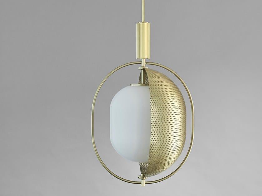Lampada a sospensione a luce diretta e indiretta in ottone PEARL by 101 Copenhagen