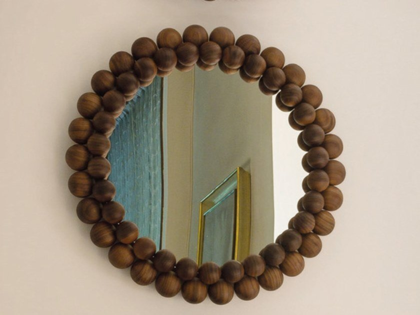 Round framed mirror PEARL by Porada