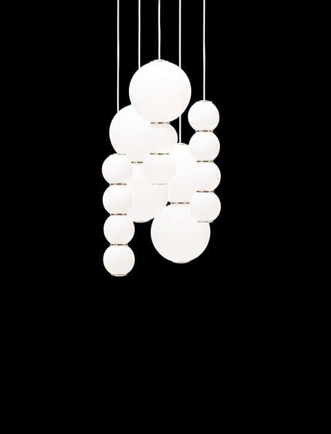 Satinato Lampada Formagenda 5 A Pearls In Vetro Sospensione Led QdeWxrCBo