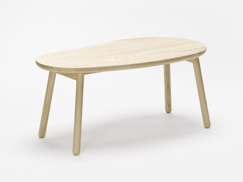 Ash coffee table for living room PEBBLE L by Zilio A&C