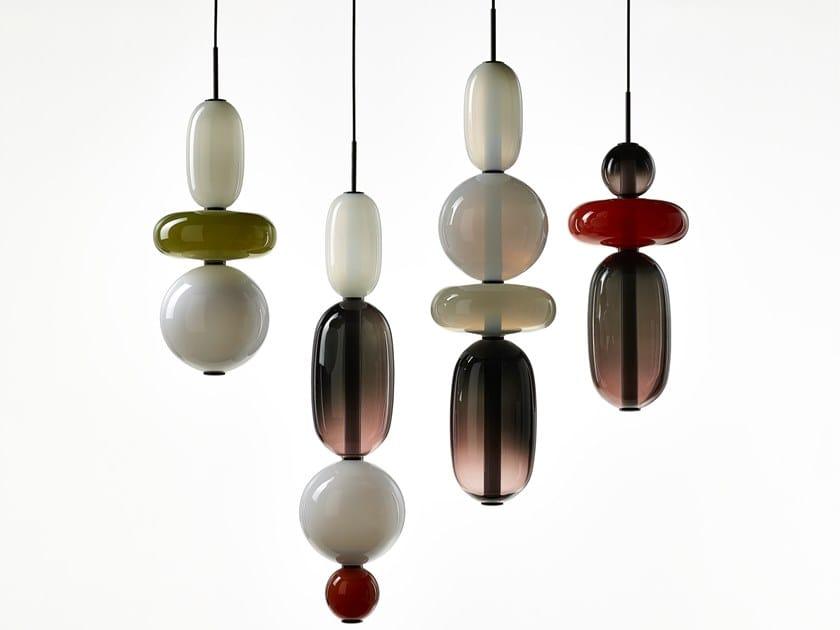 Crystal pendant lamp PEBBLES | Pendant lamp by BOMMA