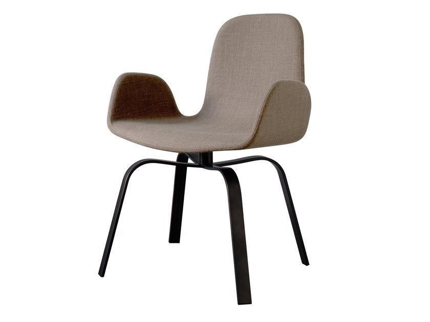 Swivel upholstered fabric chair PEC | Fabric chair by more