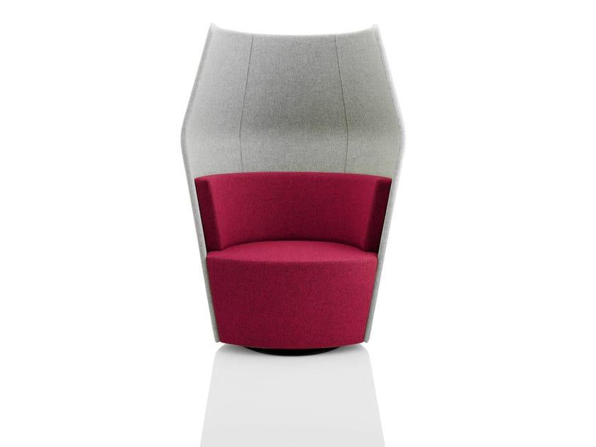 Upholstered easy chair high-back PEEK & BOO   Easy chair high-back by Boss Design