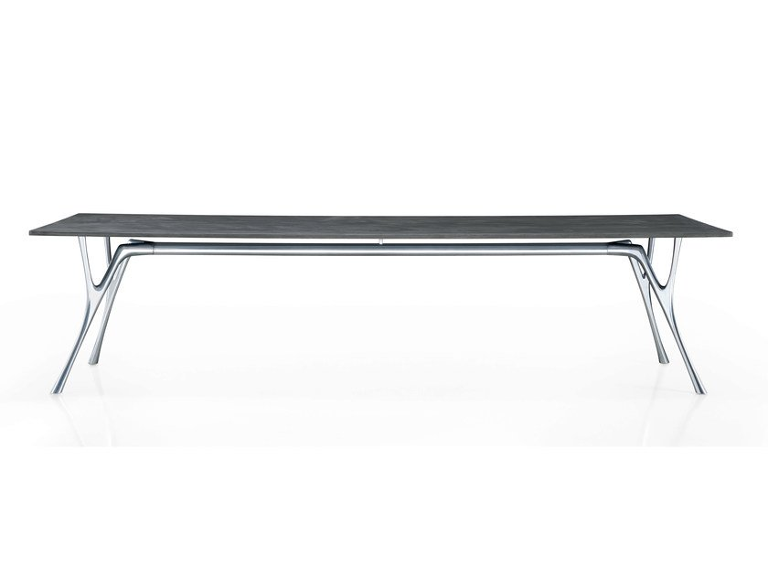 Rectangular cement table PEGASO | Cement table by Caimi Brevetti