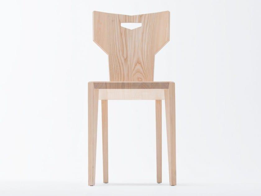 Ash chair PEGAZ | Wooden chair by ST FURNITURE