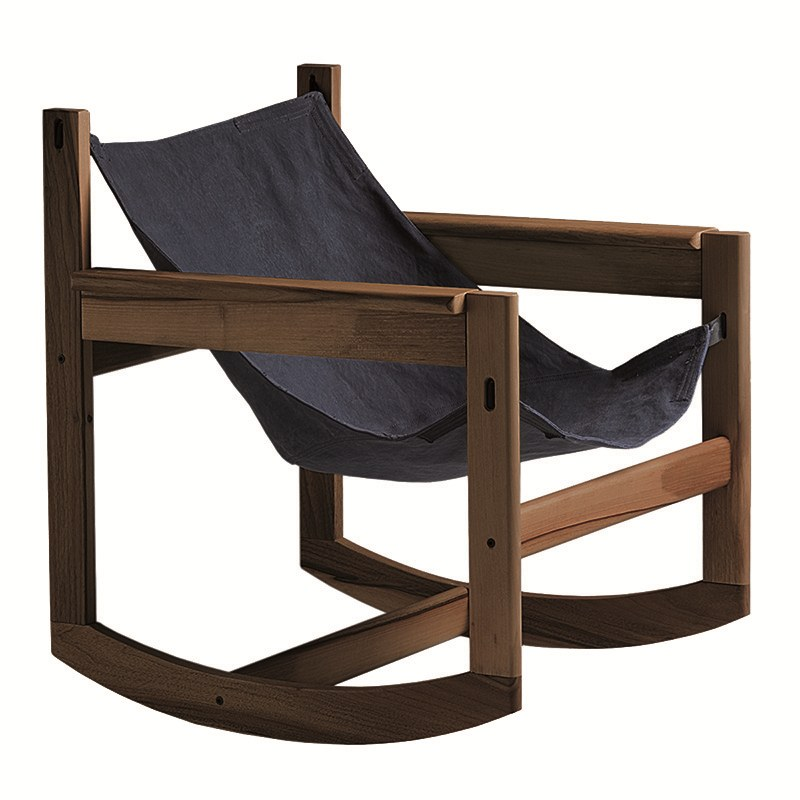 Rocking easy chair with armrests PELICANO | Rocking easy chair by Objekto