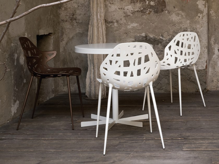 Contemporary style aluminium chair PELOTA 4 LEGS by Casprini