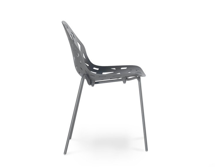 Stackable die cast aluminium chair PELOTA STACKABLE by Casprini