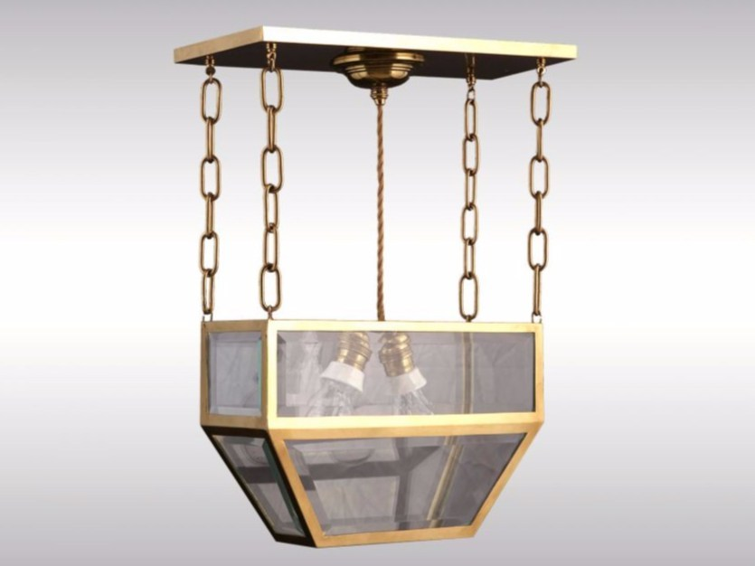 Brass ceiling lamp PENDE by Woka Lamps Vienna