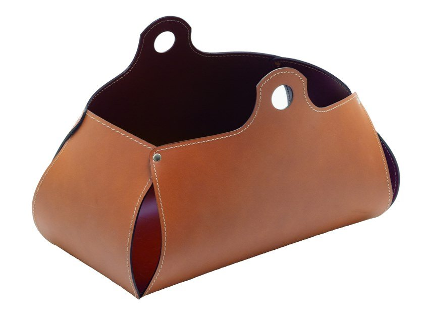 Bonded leather magazine rack PENELOPE by LIMAC design FIRESTYLE