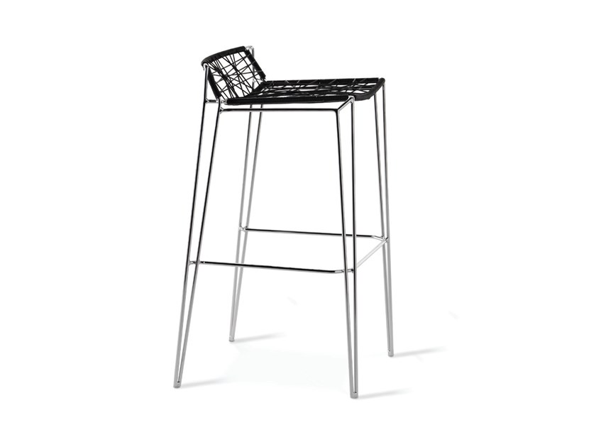 Synthetic material stool with footrest PENELOPE   Stool by Casprini