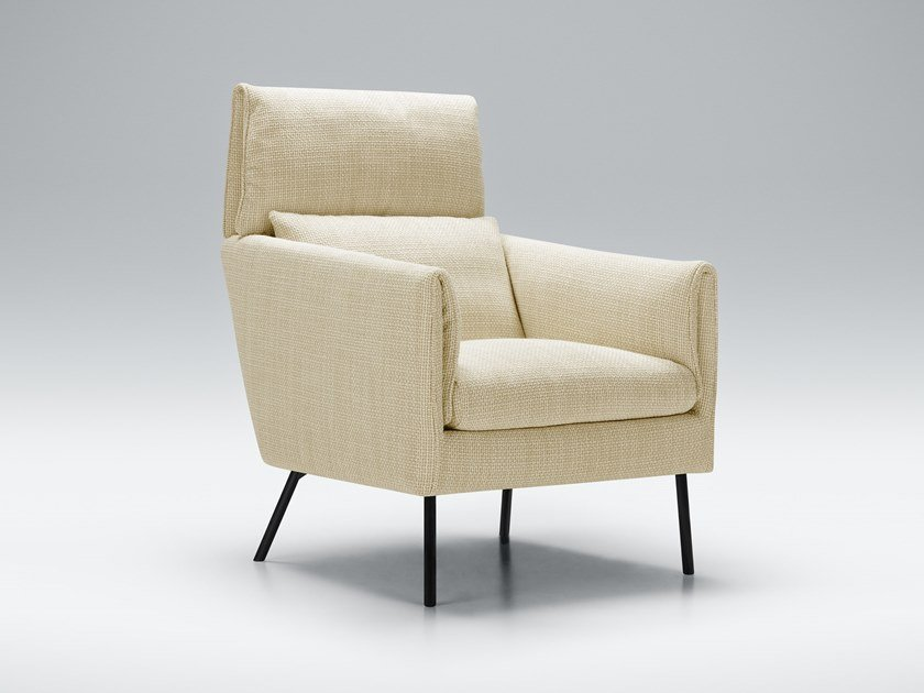 Fabric armchair with armrests PENNY | Armchair by Sits