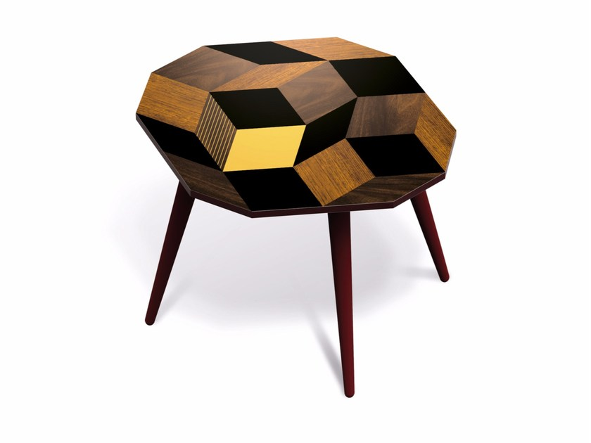 Beech wood and HPL side table PENROSE SUMMERWOOD M by Bazartherapy