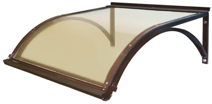 Modular polycarbonate door canopy PENSILINA GIORGIA by PolyPiù
