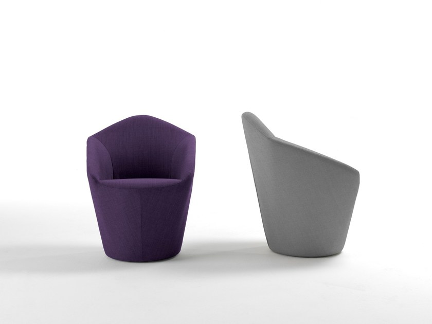 Upholstered armchair PENTA by Viccarbe