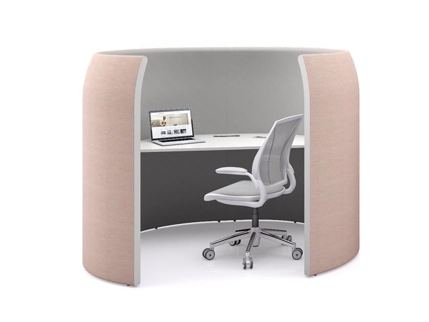 Office workstation / office booth PENTAGONE by La Manufacture du Design