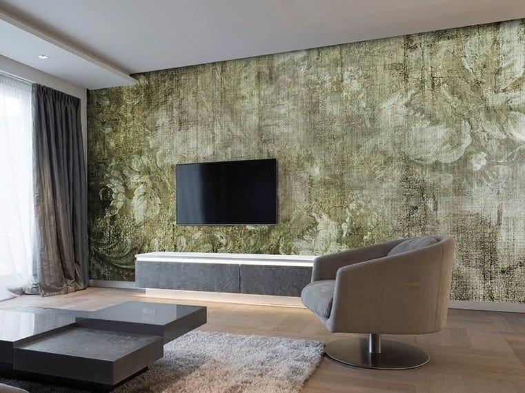 Vinyl or fyber glass wallpaper PEONIES by N.O.W. Edizioni