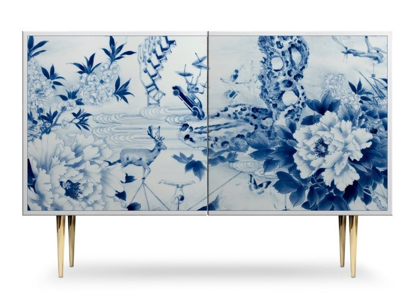 Lacquered sideboard with doors PEONY PLAY   Sideboard by Mineheart