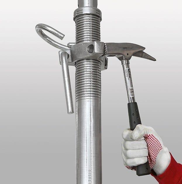 PEP ERGO, ghiera di regolazione che facilita la rotazione per l'abbassamento del puntello