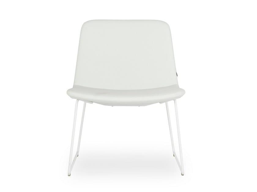 Design In Slitta amp;t Pera A Pelle B LoungePoltroncina 0wvNm8n