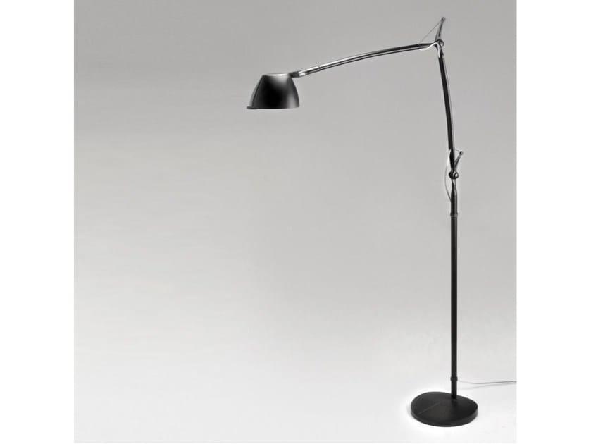 Lampada da terra a LED con braccio flessibile PERCEVAL LED 6532   Lampada da terra by Milan Iluminacion