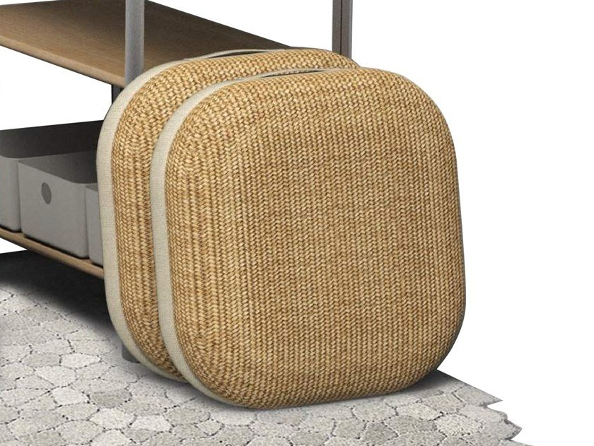 Square fabric floor cushion PERCH by ZENS Lifestyle