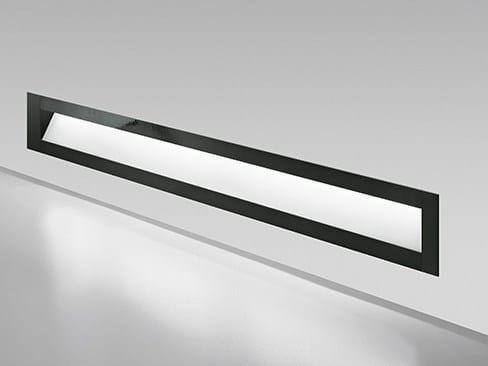 Glass and aluminium wall lamp / steplight PERCORSO by Artemide