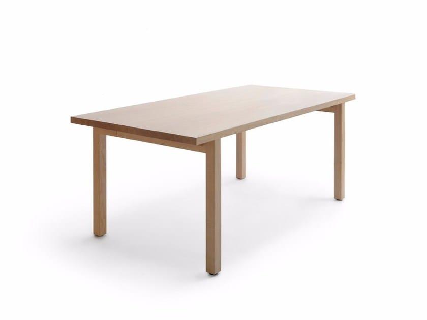 Rectangular wooden table PERIFERIA KVP1-2-3 by Nikari
