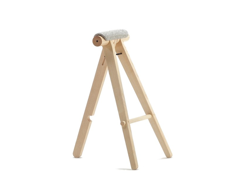 Ash stool with footrest PERIGALLO by Sancal