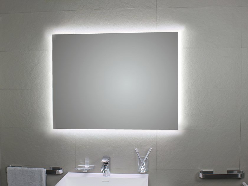 Bathroom mirror with integrated lighting PERIMETRALE AMBIENTE LED by KOH-I-NOOR