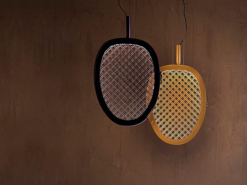 Indirect light metal pendant lamp PERIPLO by Karman