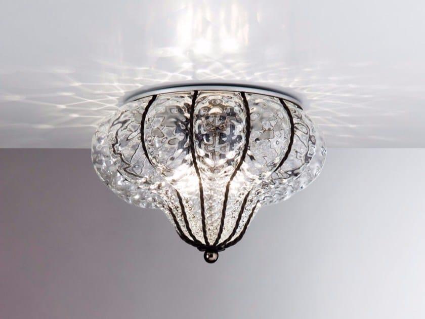 Plafoniere In Vetro Di Murano : Plafoniera classica in vetro soffiato di murano led
