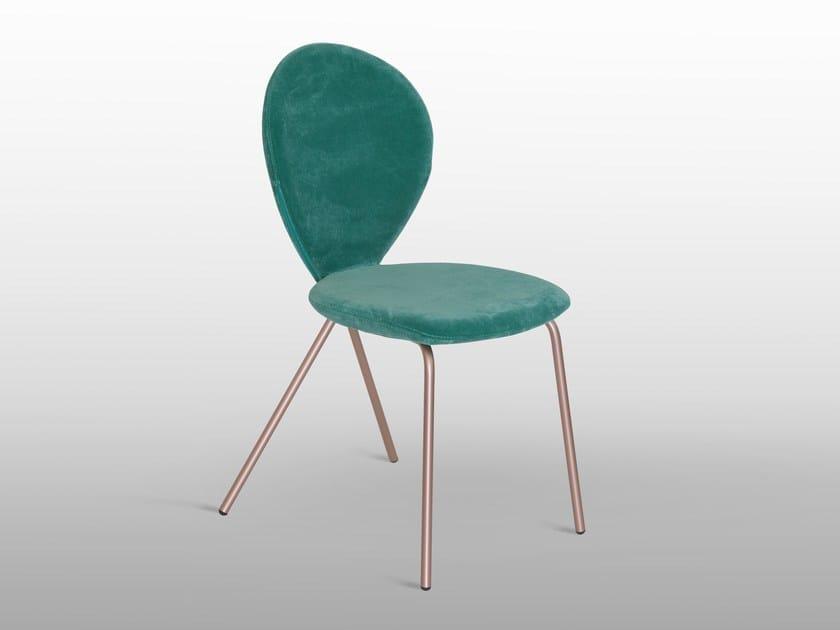Upholstered velvet chair PERLA by RIFLESSI