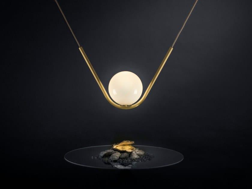 Pendant lamp PERLE 1 by Larose Guyon