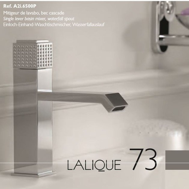 Contemporary style chrome-plated countertop metal washbasin mixer with polished finishing PERLE   1 hole washbasin mixer by INTERCONTACT