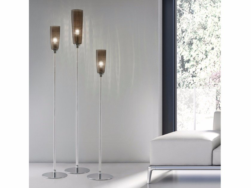 Blown glass floor lamp PERLE | Floor lamp by Zafferano