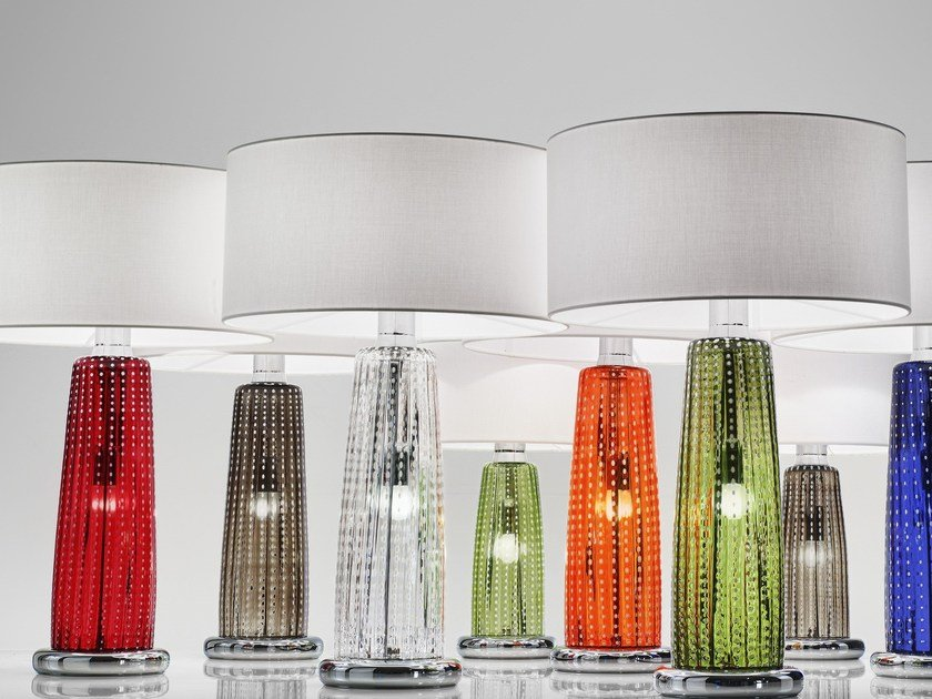 Blown glass table lamp PERLE | Table lamp by Zafferano