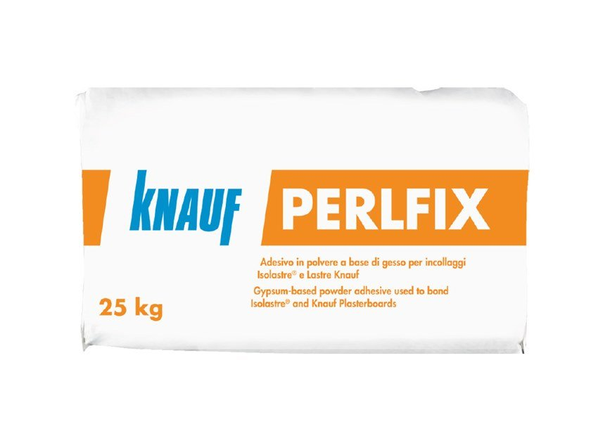Gypsum and plaster PERLFIX by Knauf Italia