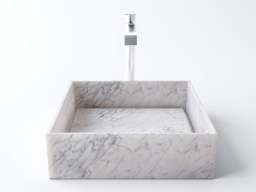 Countertop natural stone washbasin PERMANO by FILODESIGN